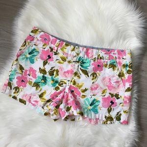 Merona Floral Flat Front Shorts Size 10